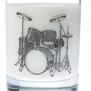 Clear Glass Tumbler: Drum Set.jpg