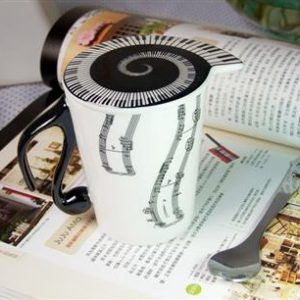 Large image Mug And Lid (Vertical Music