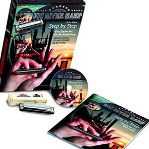 Hohner Step-by-Step Harmonica Starter Pack Includes Tuition Book and CD Hohner Big River harmonica in C Everything you need to get started playing harmonica_edited.jpg