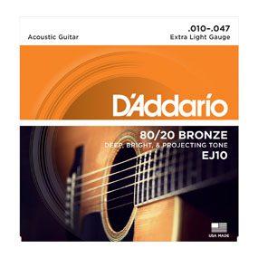 EJ10 80/20 Bronze Acoustic Guitar String
